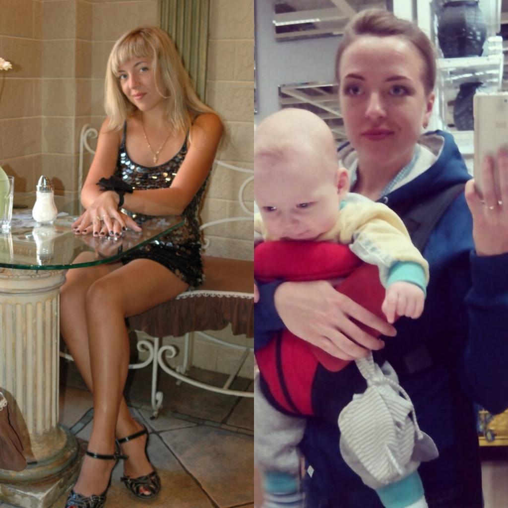 25 прикольных фото до и после рождения малыша